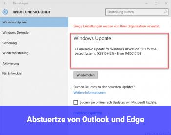 Abstürtze von Outlook und Edge