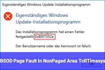 BSOD Page_Fault_In_NonPaged_Area TcRTime.sys