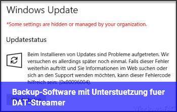 Backup-Software mit Unterstützung für DAT-Streamer