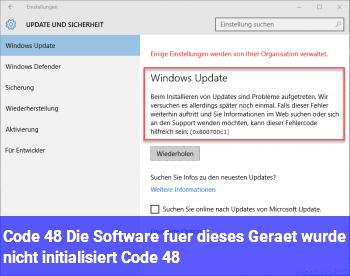 """Code 48 """"Die Software für dieses Gerät wurde nicht initialisiert… (Code 48)"""""""