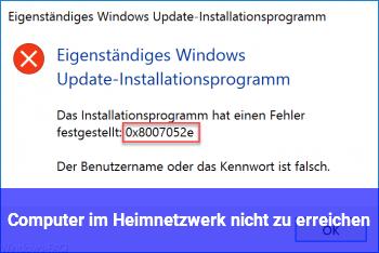 Computer im Heimnetzwerk nicht zu erreichen