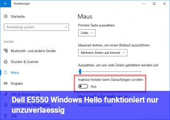 [Dell E5550] Windows Hello funktioniert nur unzuverlässig