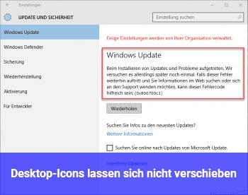 Desktop Icons Verschieben Sich