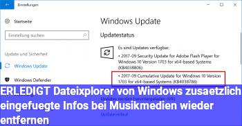 [ERLEDIGT] Dateixplorer: von Windows zusätzlich eingefügte Infos bei Musikmedien wieder entfernen