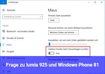 Frage zu lumia 925 und Windows Phone 8.1