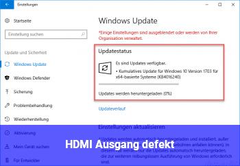 HDMI Ausgang defekt???