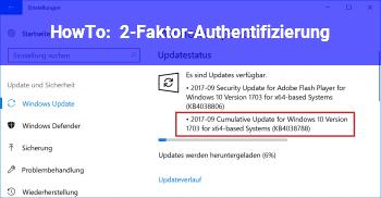 HowTo 2-Faktor-Authentifizierung