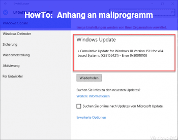 HowTo Anhang an mailprogramm