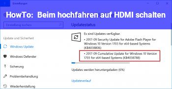 HowTo Beim hochfahren auf HDMI schalten