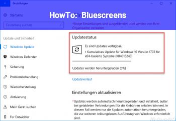 HowTo Bluescreens :(