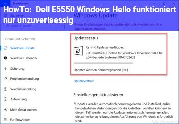 HowTo [Dell E5550] Windows Hello funktioniert nur unzuverlässig
