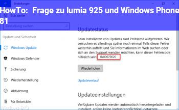 HowTo Frage zu lumia 925 und Windows Phone 8.1