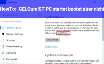 HowTo [GELÖST] PC startet, bootet aber nicht