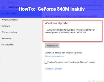 HowTo GeForce 840M (inaktiv)