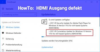 HowTo HDMI Ausgang defekt???