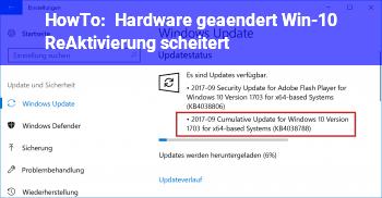 HowTo Hardware geändert. Win-10 (Re)Aktivierung scheitert