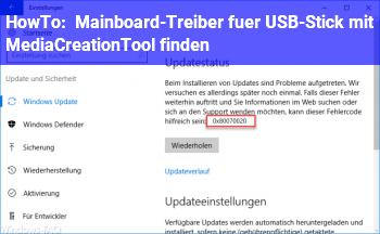 HowTo Mainboard-Treiber für USB-Stick mit MediaCreationTool finden
