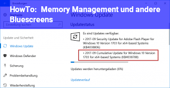 HowTo Memory Management und andere Bluescreens