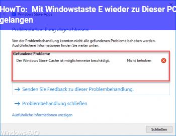 """HowTo Mit Windowstaste + E wieder zu """"Dieser PC"""" gelangen"""