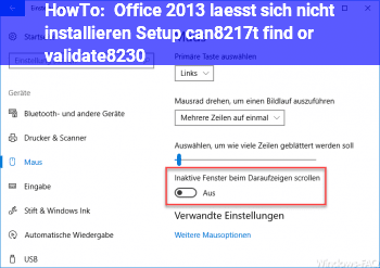 HowTo Office 2013 läßt sich nicht installieren (Setup can't find or validate…)