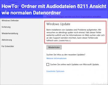 """HowTo Ordner mit Audiodateien – Ansicht wie """"normalen Datenordner"""""""