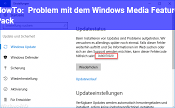 HowTo Problem mit dem Windows Media Feature Pack !