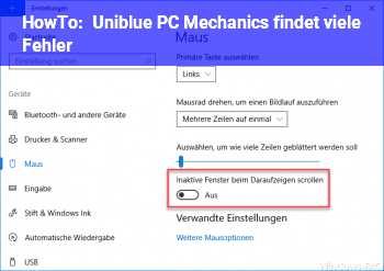 HowTo Uniblue PC Mechanics findet viele Fehler