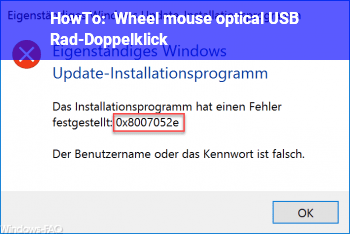 HowTo Wheel mouse optical USB: Rad-Doppelklick