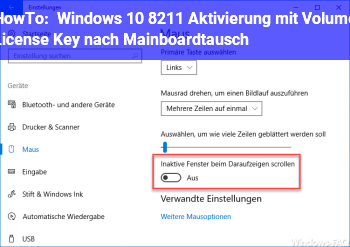 "HowTo Windows 10 – Aktivierung mit ""Volume License Key"" nach Mainboardtausch"