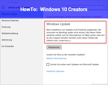 HowTo Windows 10 Creators