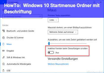 HowTo Windows 10 Startmenü Ordner mit Beschriftung