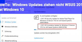 HowTo Windows Updates ziehen nicht WSUS 2012 bei Windows 10