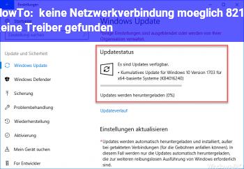 HowTo keine Netzwerkverbindung möglich – keine Treiber gefunden