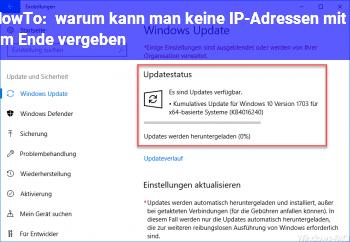HowTo warum kann man keine IP-Adressen mit 0 am Ende vergeben?