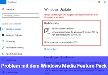 Problem mit dem Windows Media Feature Pack !