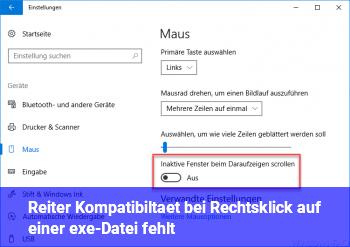 """Reiter """"Kompatibiltät"""" bei Rechtsklick auf einer exe-Datei fehlt"""
