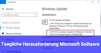 Tägliche Herausforderung Microsoft Solitäre