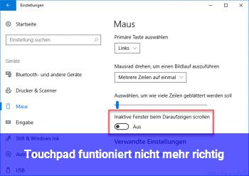 Touchpad funtioniert nicht mehr richtig