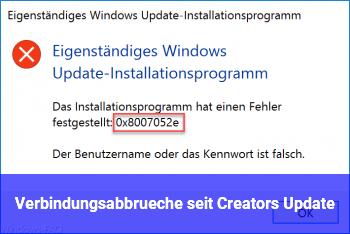 Verbindungsabbrüche seit Creators Update