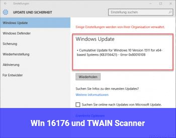 WIn 16176 und TWAIN Scanner?