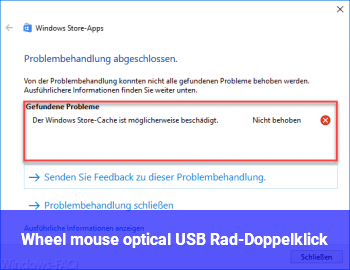 Wheel mouse optical USB: Rad-Doppelklick