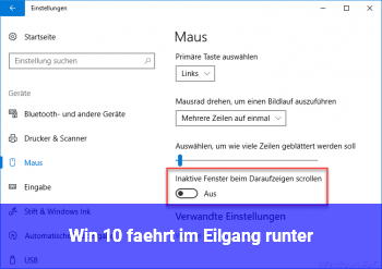 """Win 10 fährt im """"Eilgang"""" runter"""