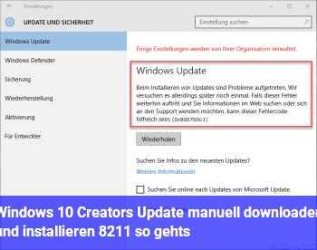 Windows 10 Creators Update manuell downloaden und installieren – so gehts