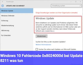 Windows 10: Fehlercode 0x8024000d bei Update – was tun?