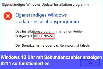 Windows 10: Uhr mit Sekundenzähler anzeigen – so funktioniert es