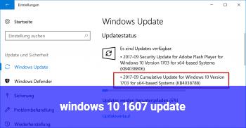 windows 10 1607 update