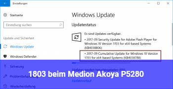 1803 beim Medion Akoya P5280