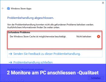 2 Monitore am PC anschliessen -Qualität