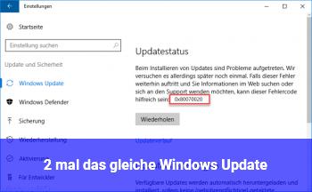 2 mal das gleiche Windows Update