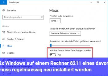 2x Windows auf einem Rechner – eines davon muss regelmäßig neu installiert werden